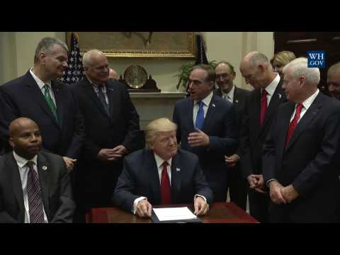 President Trump Signs S -544 the Veterans Choice Program Extension and Improvement Act