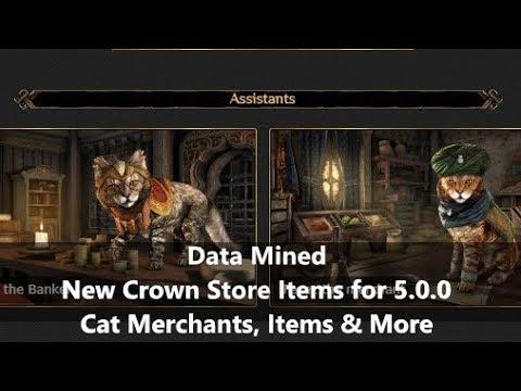 ESO L Data Mined Crown Items For 5.0.0 Alfiq Assistants & MORE!