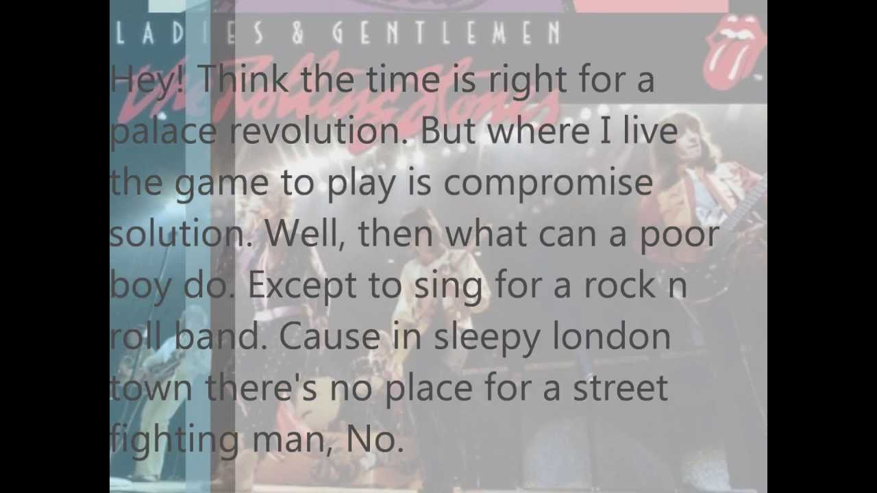 Street Fighting Man Lyrics - songmeanings.com