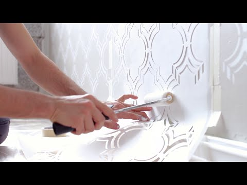 How to stencil a feature wall | Edges and corners