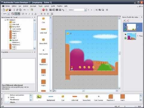 Créer un jeu de plateforme en moins d'une heure avec Multimedia Fusion 2