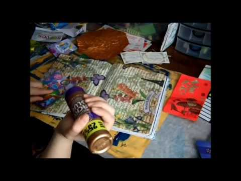 Art with me: Composition Notebook Junk Journal, Crafting with junk