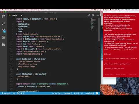 Setting State in React Native with RxJS with Ben Lesh & Tracy Lee - Beginner's Lesson