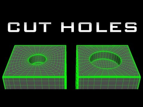 Maya for Beginners tutorial - How to Cut Holes - High Poly / Subd Modeling