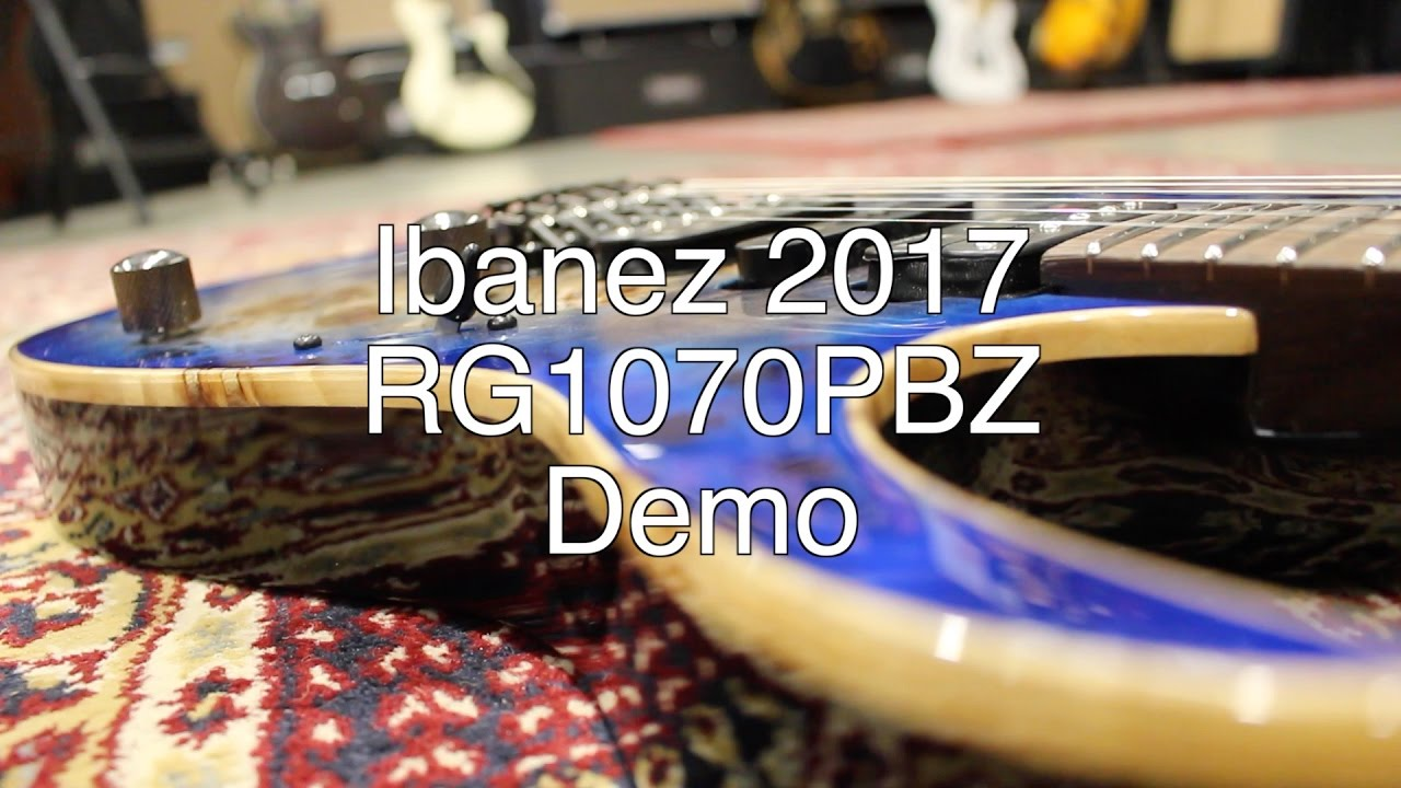 Ibanez 2017 RG1070PBZ Premium Demo | NAMM 2017