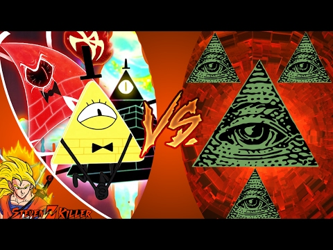 BILL CIPHER vs ILLUMINATI! (Gravity Falls vs MLG) Cartoon Fight Club Episode 159! REACTION!!!