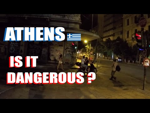 Athens Red Light District Night Walk To Omonia: Is It Dangerous?