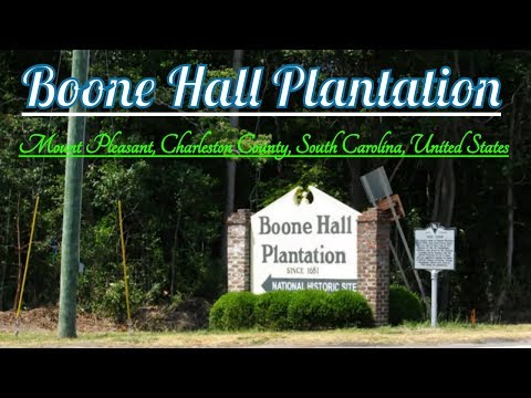 Visiting Boone Hall, Mount Pleasant, Charleston County, South Carolina, United States