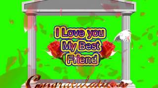 Happy Friendship Day Green Screen Effects - Happy Friendship Day speciel 3D Animated Video No 80