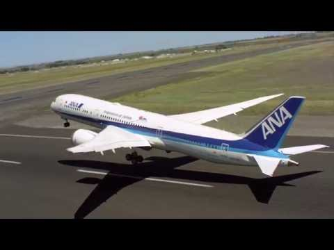 Amazing! The beauty of ANA's B787-9 Dreamliner on display