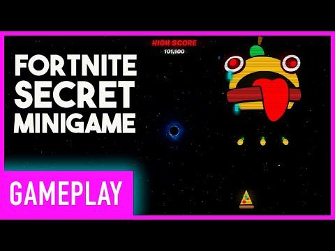 Fortnite Secret Konami Code Mini Game   Black Hole Gameplay