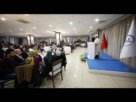 Diyanet İşleri Başkanı Görmez, Adana'da şehit yakınları ve gazilerle bir araya geldi