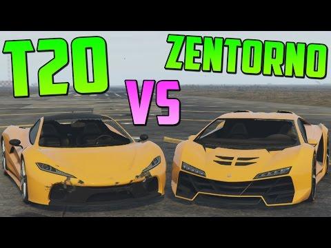 PROGEN T20 vs ZENTORNO - Test de Velocidad - El Coche Mas Rápido de GTA V Online PS4