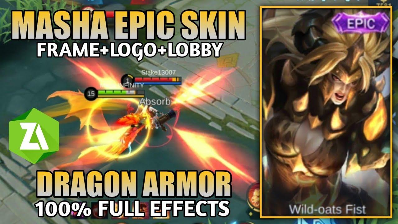 Masha Epic Skin Script Dragon Armor 100 Full Effects Mobile Legends Youtube Dragon armor (masha epic skin). masha epic skin script dragon armor 100 full effects mobile legends