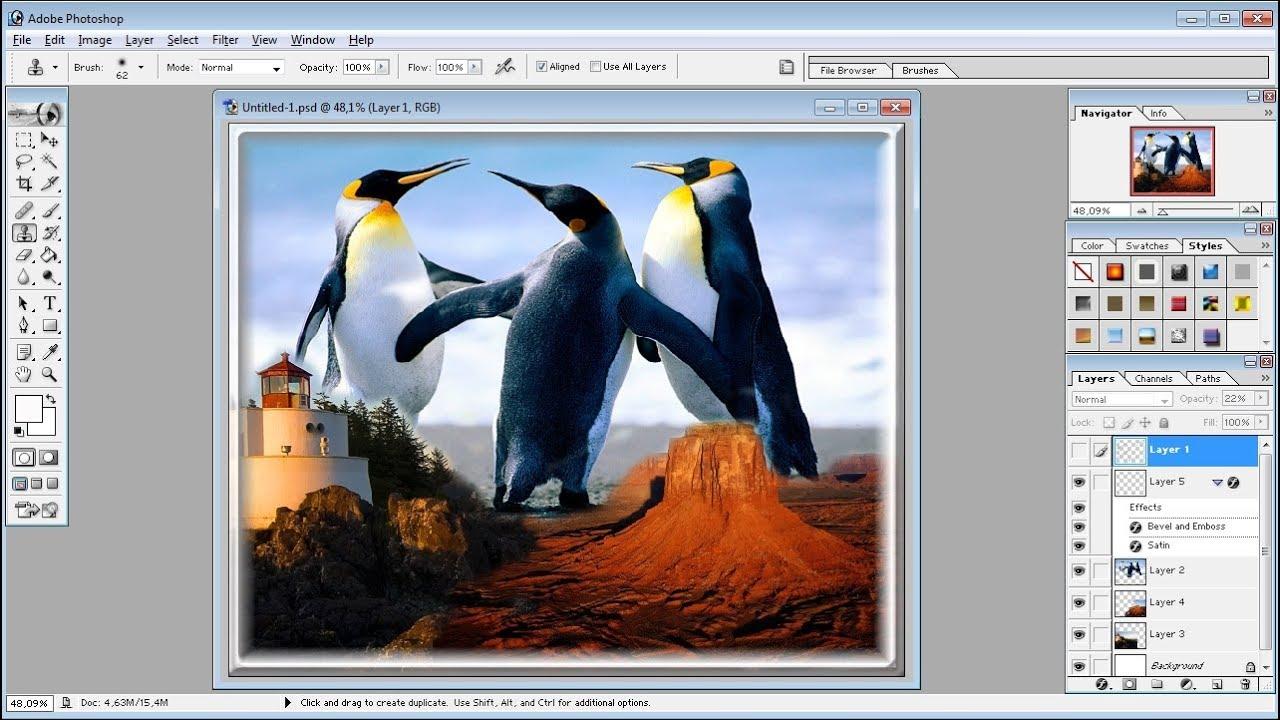 Tutorial Photoshop Cara Menggabungkan Tiga Gambar Di Photoshop Youtube