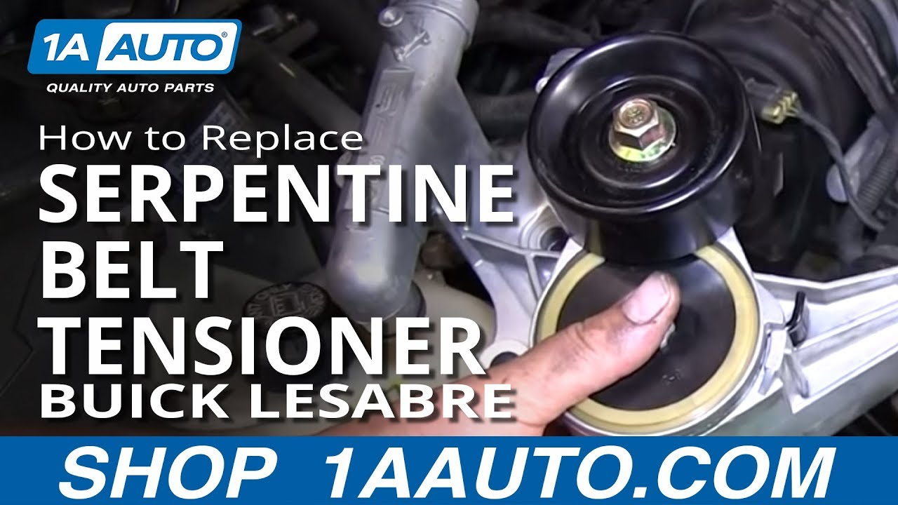 how to replace install serpentine belt tensioner 1996 98 buick how to replace install serpentine belt tensioner 1996 98 buick lesabre 3800 3 8l