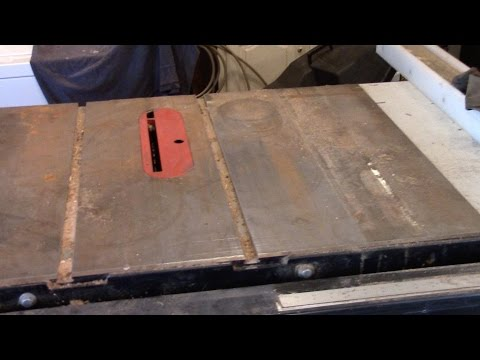 How To Remove Rust From A Cast Iron Tablesaw