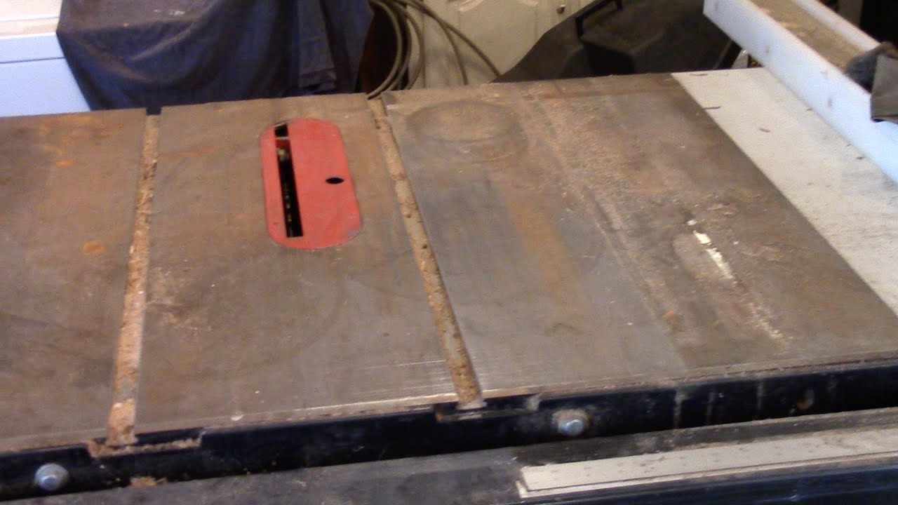 Resurface Table Saw Top