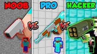 Minecraft NOOB vs. PRO vs HACKER: GUNS in Minecraft! (Animation)