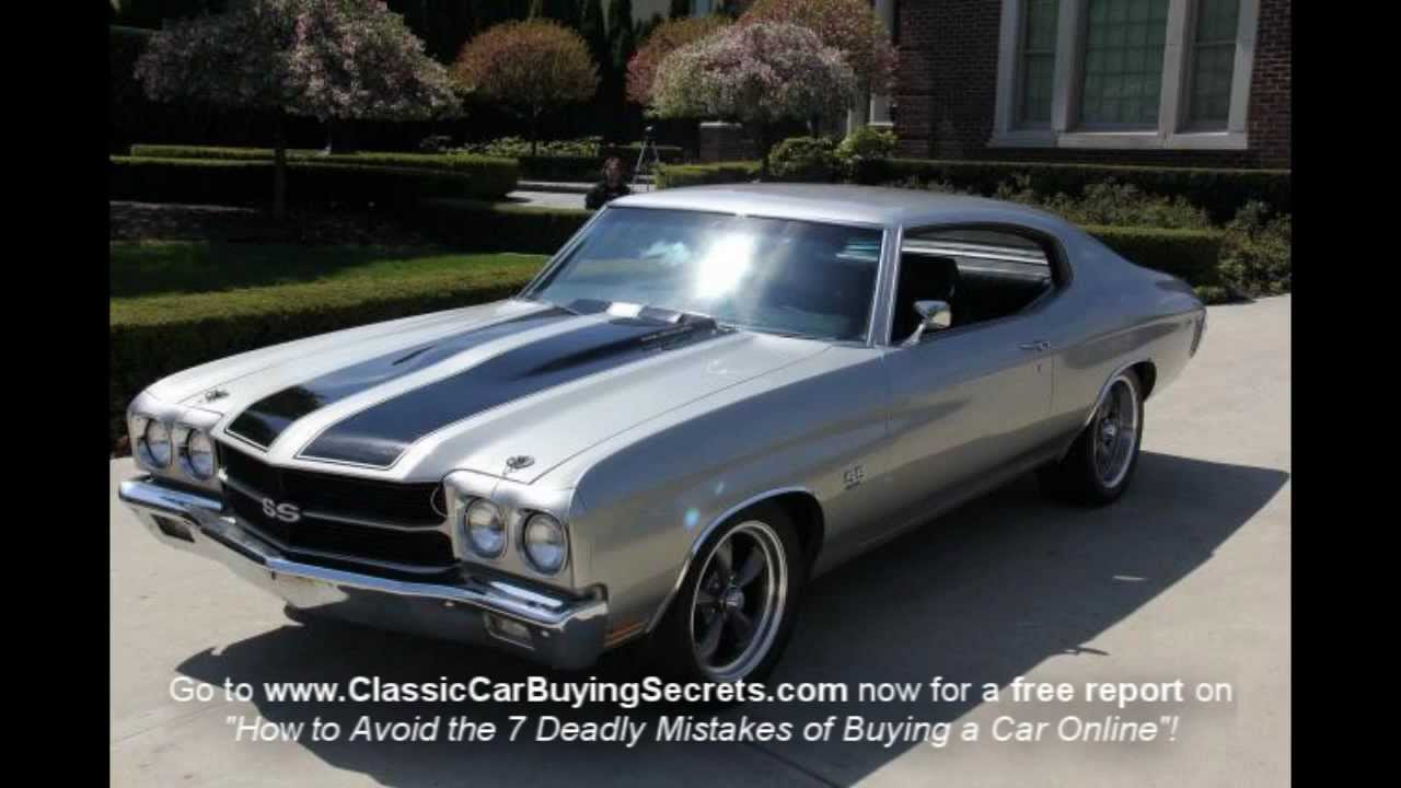 1970 Chevy Chevelle SS Clone Classic Muscle Car for Sale in MI ...