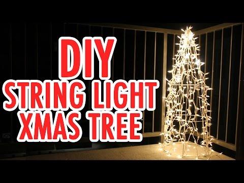 DIY String Light Christmas Tree - HGTV Handmade
