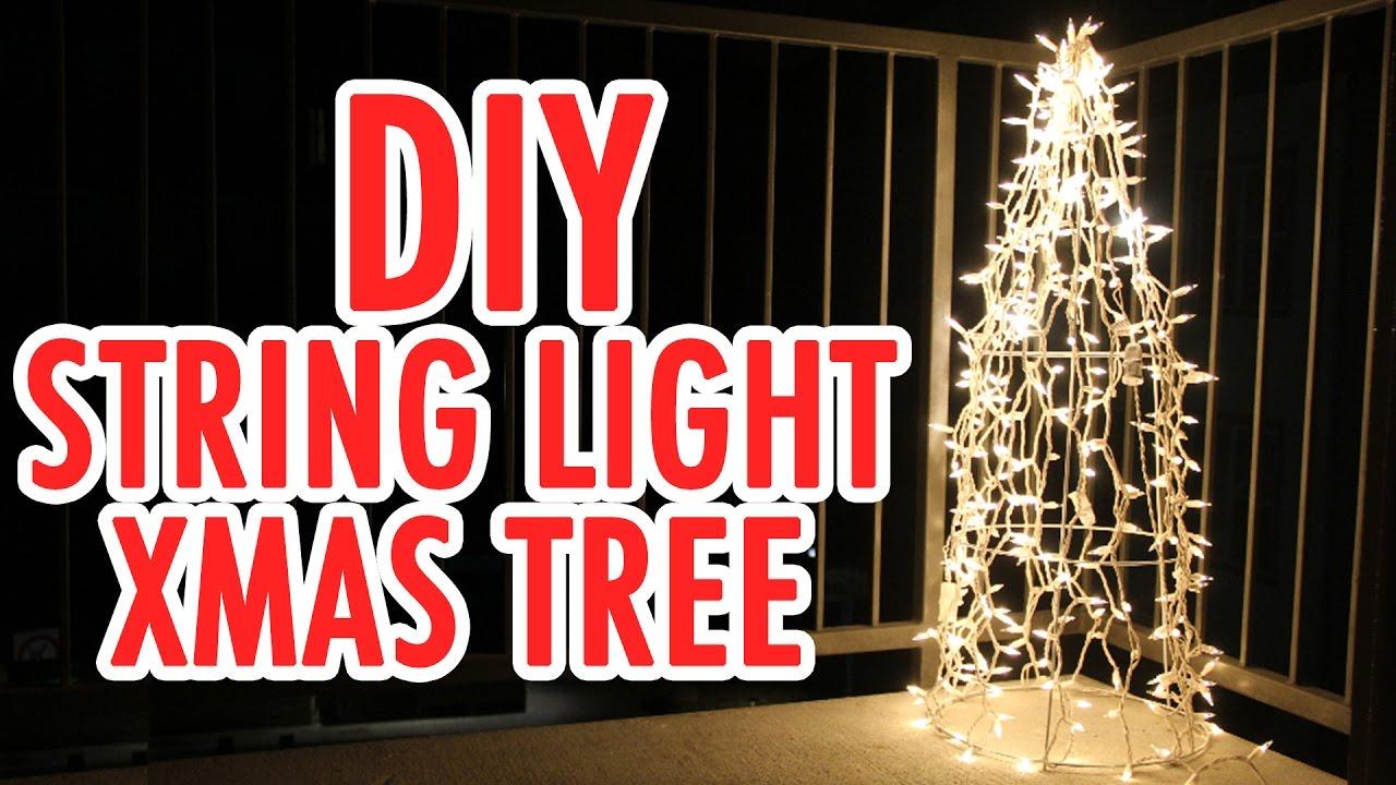 Diy String Light Christmas Tree Hgtv Handmade Youtube