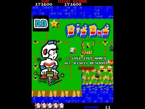 1985 [60fps] Dig Dug II 1000000pts