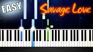 Jason Derulo - Savage Love - EASY Piano Tutorial by PlutaX видео