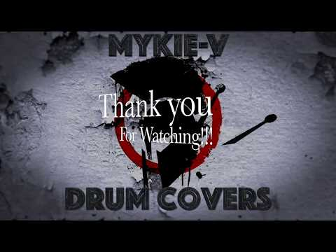 Immigrant Song by Led Zeppelin Drum Cover by Mykie-V