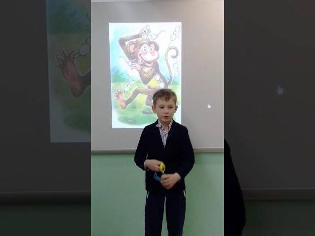 Изображение предпросмотра прочтения – АлександрСмирнов читает произведение «Мартышка и очки» И.А.Крылова