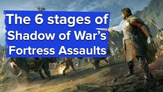The 6 Stages of a Shadow of War Fortress Assault - Shadow of War PC gameplay