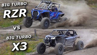 BIG TURBO Polaris RZR Turbo S vs BIG TURBO Maverick X3 XRS!