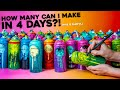 Making 90+ Art Pieces in 4 DAYS?! - Custom Painted Spray Cans
