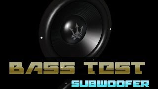test subwoofer so grave  violento