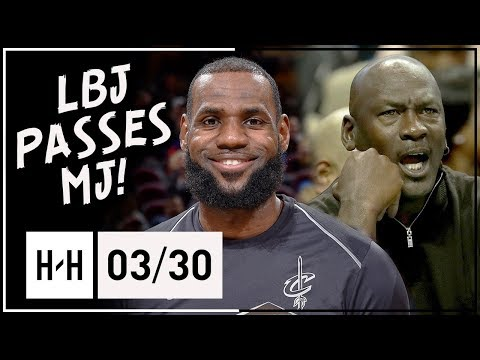 LeBron James PASSES MJ! Full Highlights vs Pelicans (2018.03.30) - 27 Pts, 11 Ast, CLUTCH AGAIN!