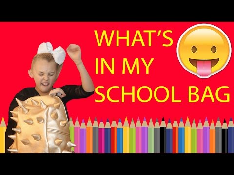 WHATS IN MY SCHOOL BAG!