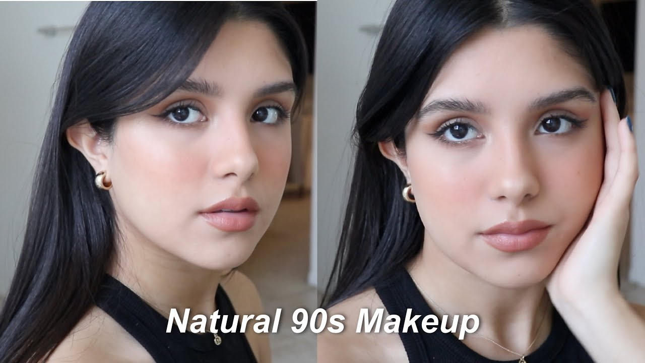 Natural 90s Makeup tutorial, Maquillaje Inspirado en modelo de los 90s