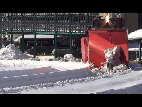 Thumbnail: Keolis Snow Plow Train at Fitchburg Station in Fitchburg, Ma. Sunday 2/22/15