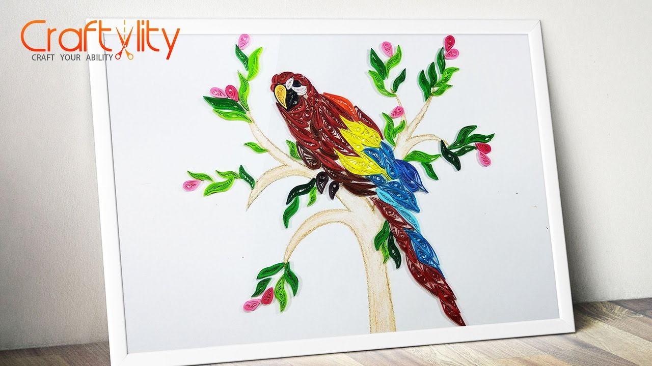 Paper Quilling Frame: How to make Paper Quilling Bird | Paper ...