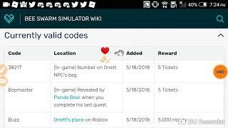 code bee swarm simulator roblox wiki