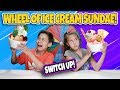 MYSTERY WHEEL OF ICE CREAM SUNDAE CHALLENGE!!! Switch Up w/ Broccoli!!