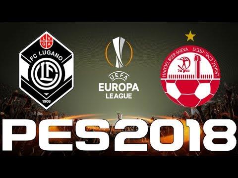 UEFA Europa League - PES 2018 - LUGANO vs HAPOEL BEER-SHEVA