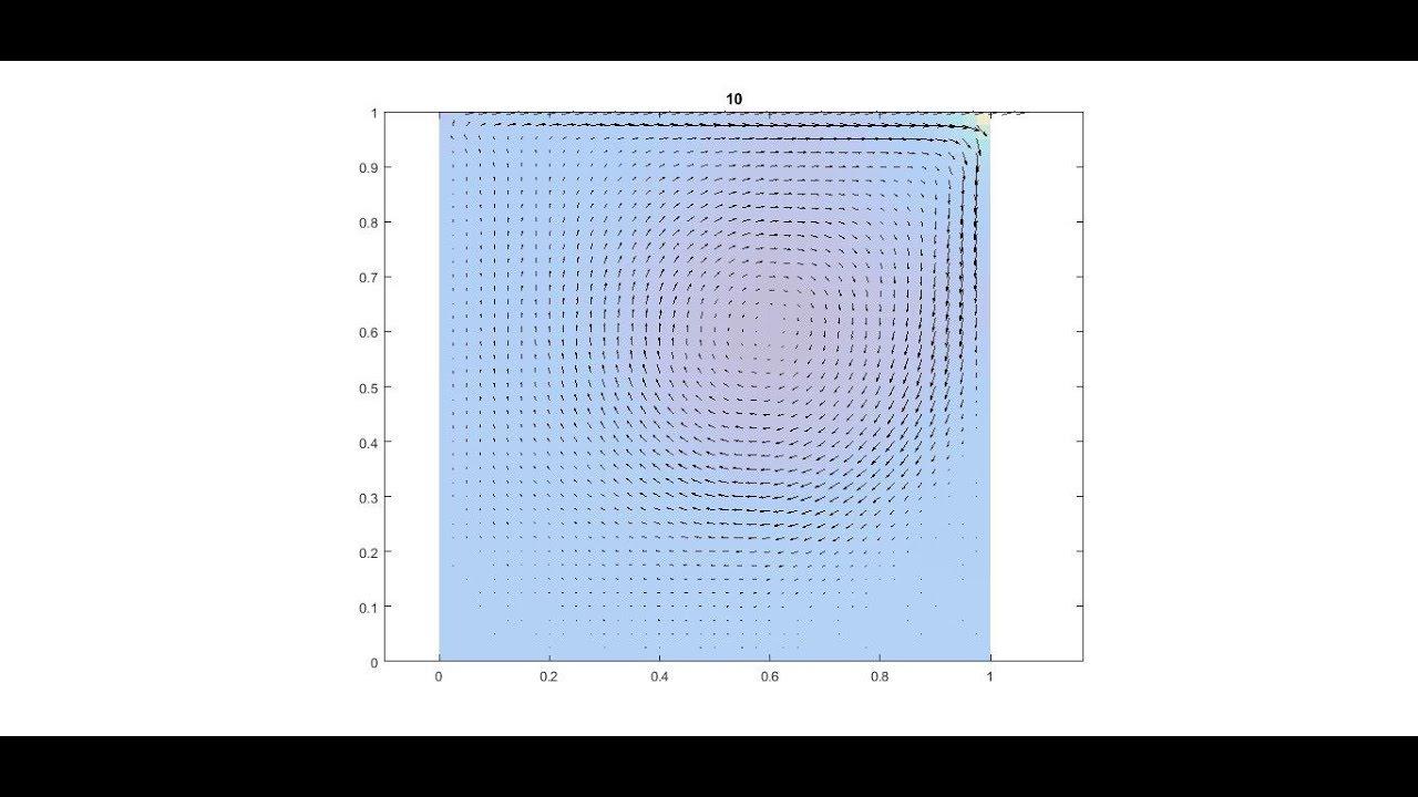 MATLAB - 2D Navier-Stokes, MAC method