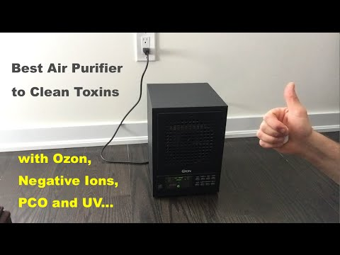 Best Air Purifier to Clean Air Toxins and VOCs with Ozon, Negative Ions, PCO and UV Light