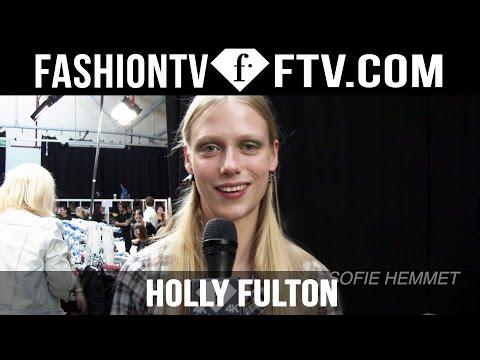 Hairstyle at Holly Fulton Spring 2016 London Fashion Week   LFW   FTV.com