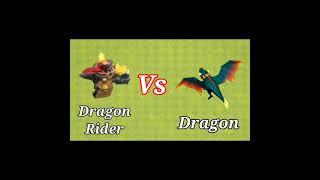 Max Dragon Rider Vs Max Dragon | Clash Of Clans |#shorts #cocshorts #clashofclans