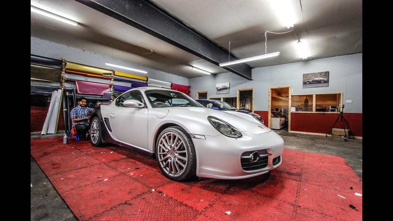 Porsche Cayman S Satin Pearl White Satin Black Wrap Youtube