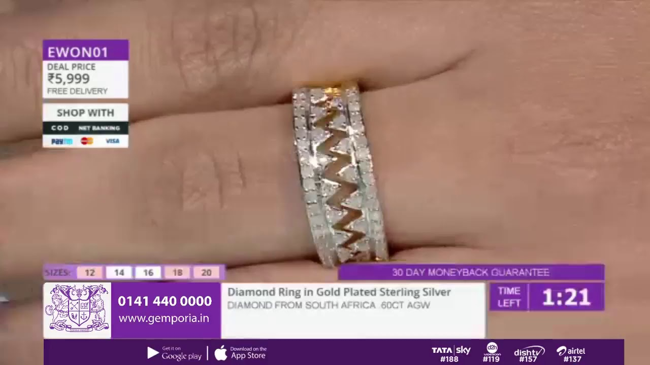 ff34b60f3 Shop Affordable Jewellery LIVE With Gemporia TV - 25th November - YouTube