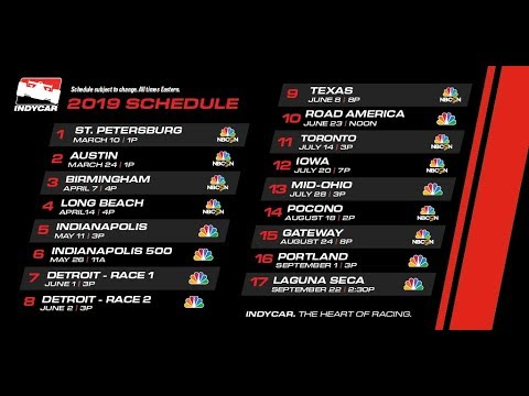 INDYCAR announces 'robust' TV schedule with exclusive partner NBC