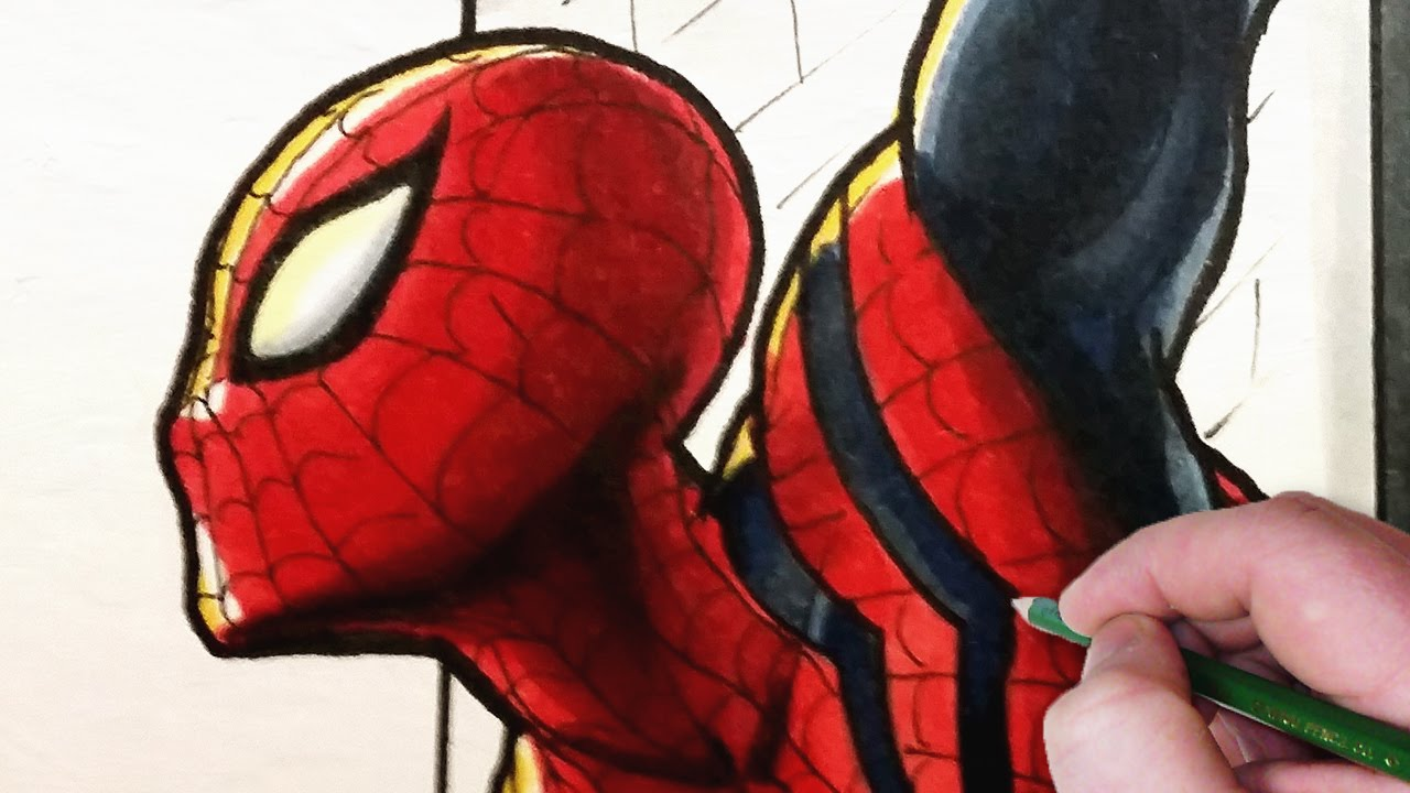 Phim22 video let 39 s draw the sensational spider man for Draw with jazza mural
